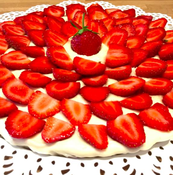 Tarte gourmande aux fraises