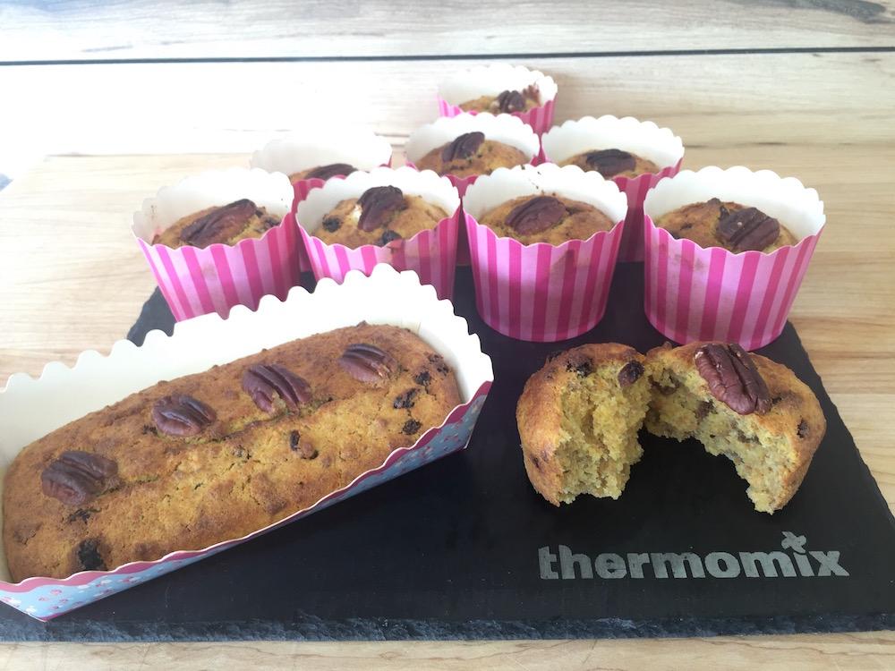 Muffins au son, carottes, raisins secs