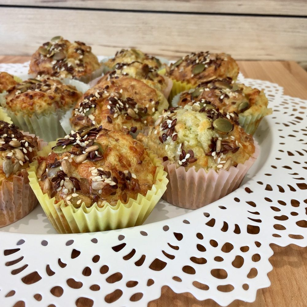 Ham, Cheese and Oats Muffins