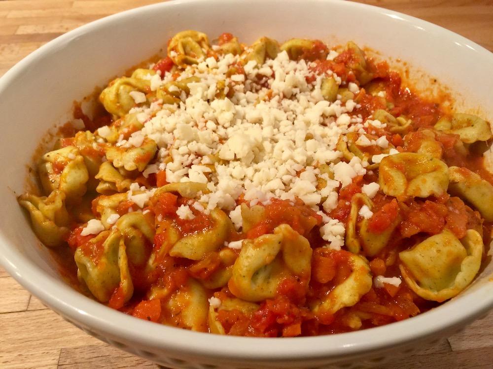 Tortellinis en sauce tomate