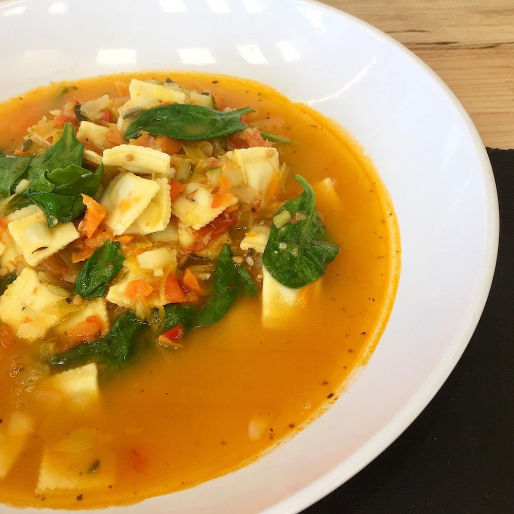 Soupe repas Ravilolini légumes