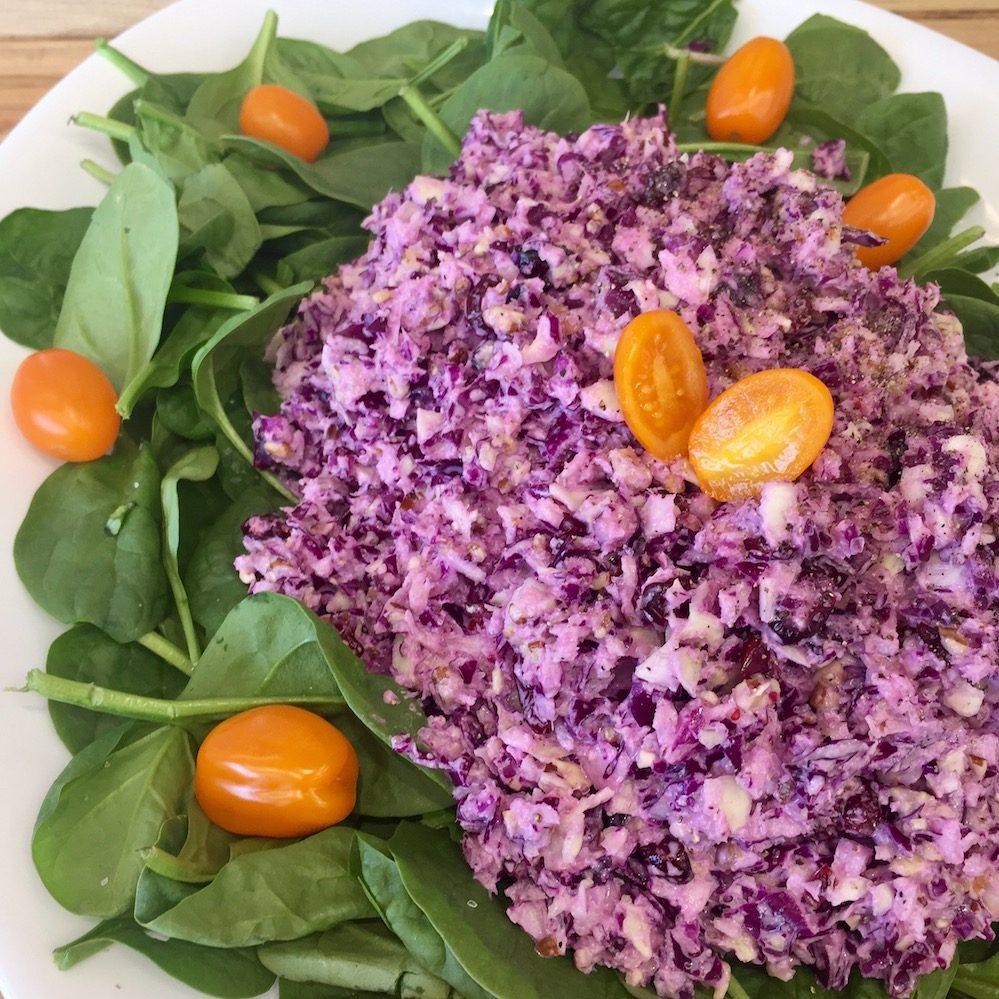 salade aux 2 choux pacanes canneberge