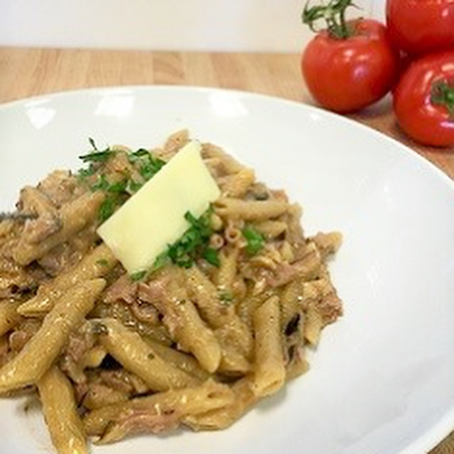 Penne with Mushroom and Ham sauce