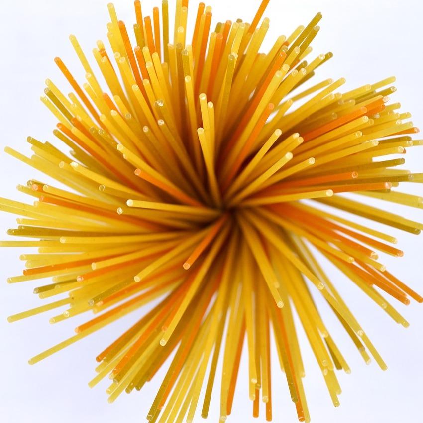 Spaghettini boulettes sauce rosée