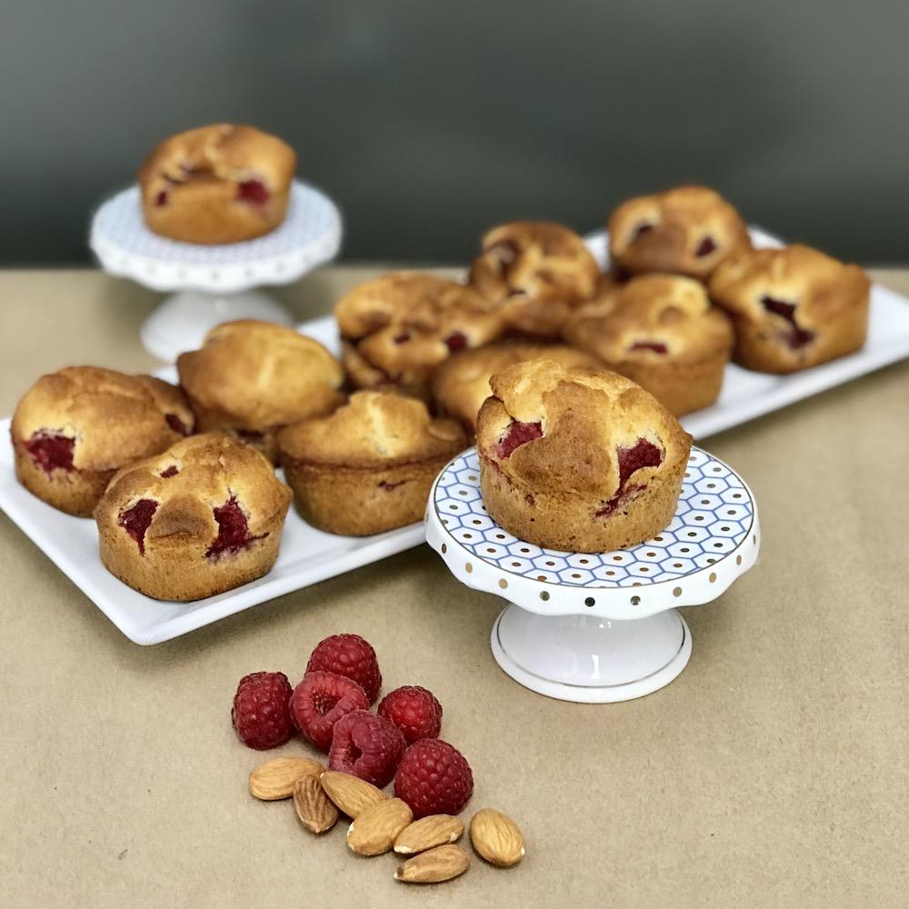 Muffins framboises et amandes (sans gluten)